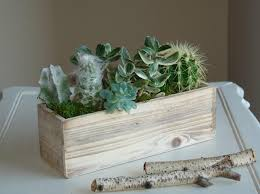 Wood Box Boxes Woodland Succulents Planter Flower Pot Rectangular Vases Wedding Wooden Rustic Chic