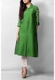 Green Cotton Ladies Kurti 3999 KURTI Pakistani Indian Dresses Online Men Women Clothing And Shoes