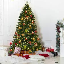 6ft Pre Lit Artificial Pop Up Christmas Tree Black With Decorations