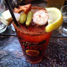 Brunch Bed Stuy by The Black Swan The Bloody Swan A Bloody Mary Topped With Bacon