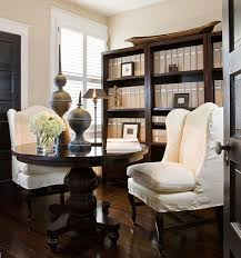 A Small Bedroom Was Transformed Into Home Office Where Former Dining Room Table Doubles As Desk