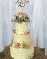 Rustic Wedding Cake Fresh Flowers Lovelee Cakes