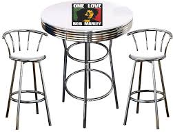Buy Bob Marley Themed 3 Piece Chrome Metal Finish Bar Table ... Flash Fniture 36 In Round Natural Laminate Table Set With Cosco Vinyl Folding Chairs Game Poker Teal Shacos Placemats For Dinner Of 6 Pvc Woven Mats Wipe Clean Heat Resistant6 Green Bamboo Grid Us 208 2015 Free Shipping Coffee Shop Wall Decal Tea Cafe Restaurant Decoration Chair Mural Art Stickerin Minimalist And Cool Scdinavian Ding Modern Room Small White Big Material Faux Detail Feedback Questions About 24 Kitchen Height Tables For Tray Cloth Foldable Combi Roller Venetian Blinds Curtains Carpet Roll Vinyl Sutton 3 Piece Spacesaver Bistro Glass Top And Padded