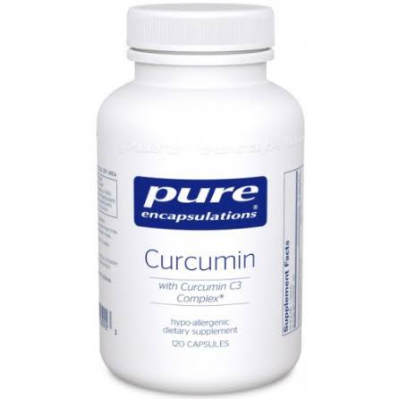 Pure Encapsulations Curcumin Dietary Supplement - with C3 Complex, 120ct