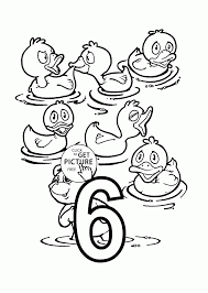 Number 6 Coloring Pages Six Page Teach Counting