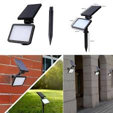 2pcs solar powered wall mount led light outdoor garden path