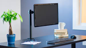 Computer Monitor Arms Desk Mount by Vivo Single Monitor Desk Mount Stand Stand V001 Youtube