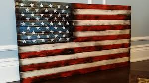 American Flag Art Rustic Wooden Country Decor FurnitureUSA