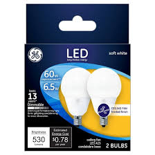 ge led 60watt a15 cac ceiling fan light bulb 2pk soft white