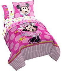 Minnie Mouse Twin Bed In A Bag by Amazon Com Disney Minnie Dreaming In Dots Twin Comforter Set W