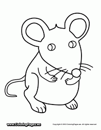 Mouse Coloring Page Sheets Computer Pictures To Color Animal