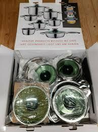 küchen töpfe topf set kochtopf 12 tlg glasdeckel hochwertige