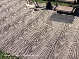 begonia arctic reversible rv cing patio mat black white outdoor