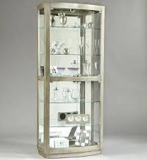 small corner china cabinet glacier lighted corner curio cabinet