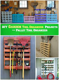 DIY Pallet Garden Tool Rack Organizer Instruction Ideas