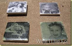 what i live for mod podge photo tile transfers