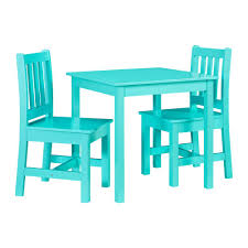 Linon Home Decor Keena Teal Kid Table And Two Chairs THD00714 - The ...