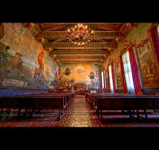 Santa Barbara Courthouse Mural Room by Elevation Of Barranca Ave Santa Barbara Ca Usa Maplogs