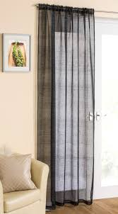 White Sheer Voile Curtains by Casablanca Sparkle Slot Top Sheer Voile Rod Pocket Window Door