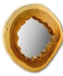 details zu wandspiegel holz baumscheibe wand spiegel badezimmer flur diele wand spiegel neu