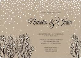 Rustic Winter Snow Wedding Invitation