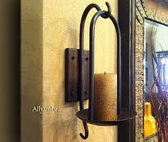 amazing metal wall sconces tuscan decor alhambra iron for candles