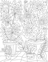 Magic In The Garden Colouring Page By LiltColoringBooks