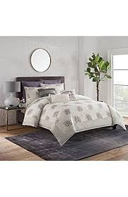 Cupcakes And Cashmere Full Queen Duvet Cover Block Print Floral Multi 100 Cotton