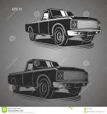 100 Old School Truck Vintage Pickup Vector Illustration School American Car