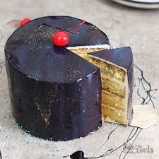 galaxy cake mit mirror glaze