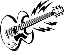 Rock Guitar Coloring Pages Printable
