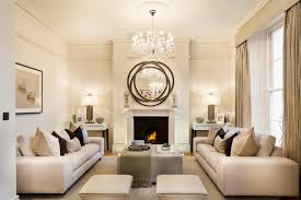 road transitional living room by
