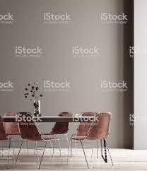 wand plakat mockup im esszimmer minimalistischen innenraum stockfoto und mehr bilder bilderrahmen