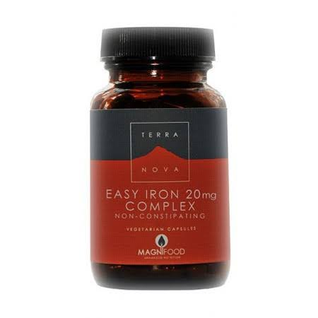 Terranova Easy Iron 20mg Complex Food Suplement - 100 Capsules