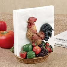 Rooster Medley Napkin Holder