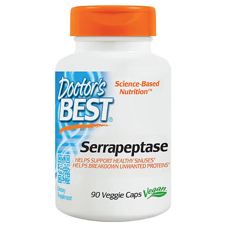 Doctor's Best Best Serrapeptase Dietary Supplement - 90 Veggie Caps