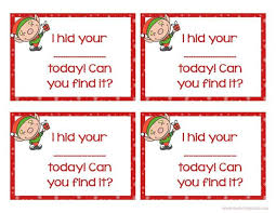 Printable Elf Ears Pattern Shelf Ideas With Cards Christmas Free On The Naughty Note