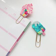 Glitter Muffin Ice Cream Pops Planner Clip O Sprinkles Cupcake Handmade Summer Dessert Snacks Beach Sweet Tooth Food