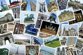 Collage Of Many Photographs Cities And Travel Destinations In Europe Stock Photo