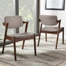 baxton studio elegant gray fabric upholstered dining chairs set