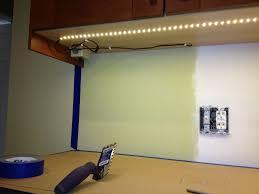 Ikea Detolf Cabinet Light by Our Ikea Kitchen Under Cabinet Lighting And Tile Backsplash