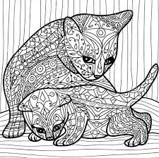 Adult Coloring Books Zentangle Kittens Diy Colouring In Vintage Cute Kitty Cats