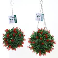 Ebay Christmas Trees Uk by Artificial Topiary Ball Buxus Grass Effect Hanging Garden Balls