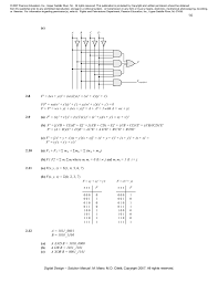 Digital logic and puter design by m morris mano solution manual …