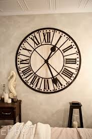 16 Best Giant Wall Clock Images On Pinterest | Giant Wall Clock ... Pottery Barn Large Wall Clocks Ashleys Nest Potterybarn Inspired Clock Black Railway Regulator Ebth Union Station Au Rustic Pendant 16 Best Giant Images On Pinterest Wall Clock Just Photocopy 4 Diff Faces And Put Them Under A Glass Plate Oversized John Robinson House Decor Mount Digital Timer
