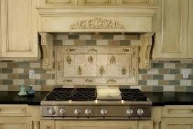 white mid century of tile backsplash kitchen with range