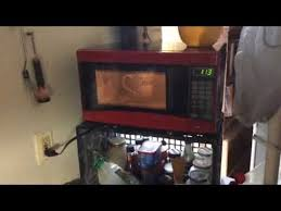 MY NEW MAINSTAYS RED MICROWAVE FROM WALMART