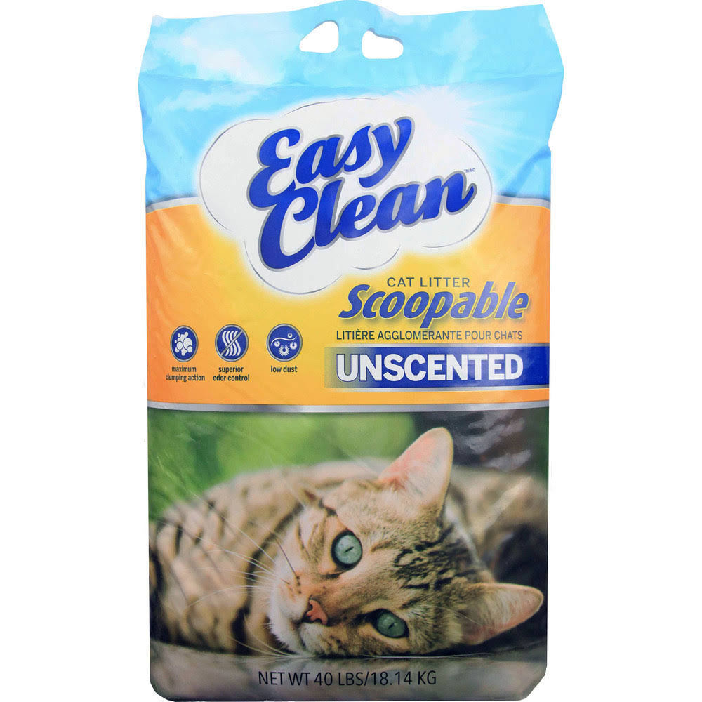 Easy Clean Clumping Cat Litter - Unscented, 20lb