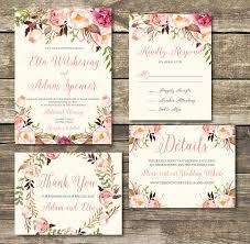 Rose Gold Printable Wedding Invitation
