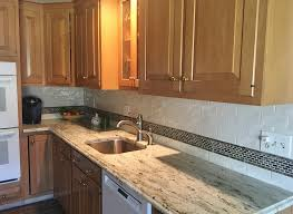 warm traditional kitchen with colonial granite countertops